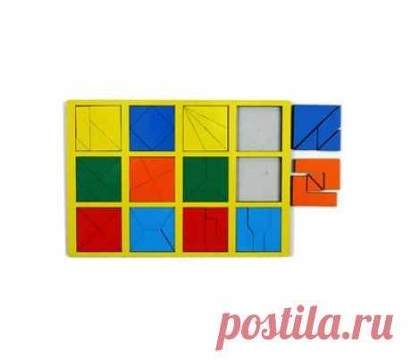 Сложи КВАДРАТ 2 кат. сложности - купить в магазине развивающих игрушек Детский сад detsad-shop.ru