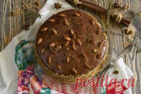 Домашний бисквитный торт с кремом из манки.