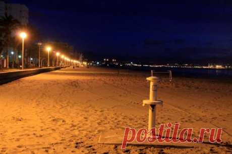 Рассветы и закаты - пляж в городе Аликанте, Коста Бланка по-русски
