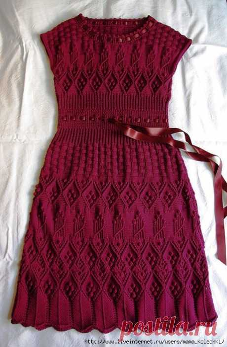 Элегантность от Dior - платье спицами.
