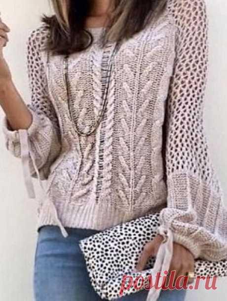 Подборка узоров для вязания пуловера спицами — DIYIdeas