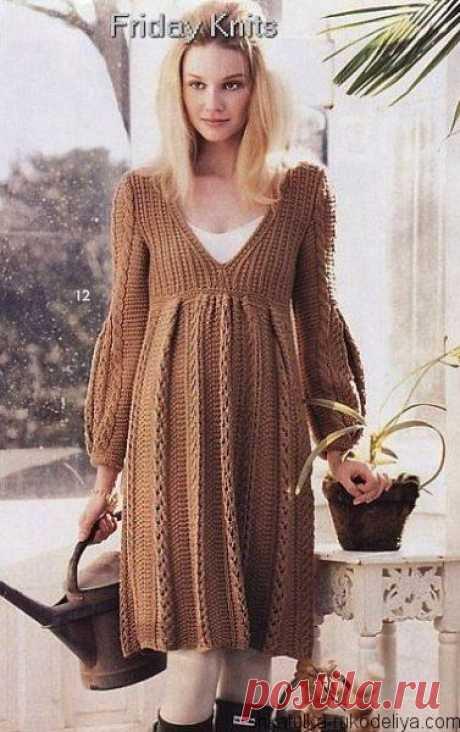 Платье спицами для беременных. Вязание для беременных по схемами | Шкатулка рукоделия