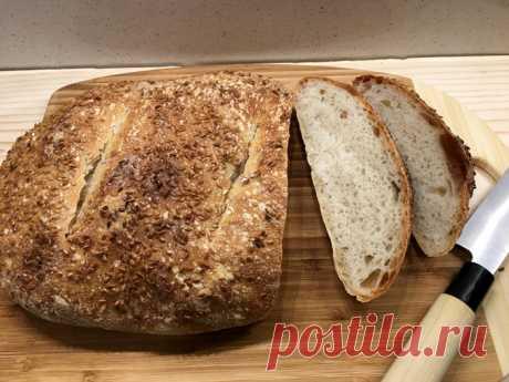 Итальянский хлеб с манкой