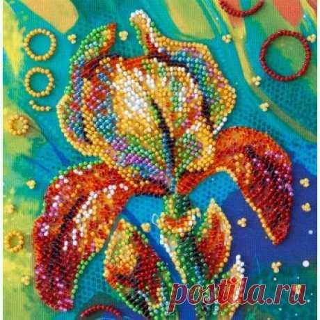 Разноцветный ирис AM-203 / Абрис Арт / Набори для вишивки бісером / Вишивання на Zinzilin.com