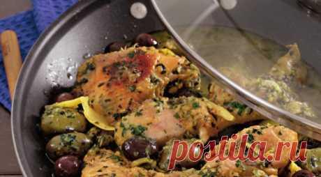 Тажин из курицы с солеными лимонами. Пошаговый рецепт с фото на Gastronom.ru