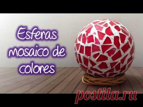 """El vídeo """"Como hacer esferas tipo mosaico de colores"""", surgió gracias a todos los suscriptores que siempre peguntaban como ponerle color a las esferas que ya..."""