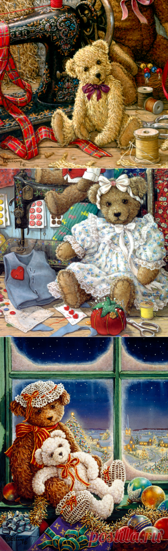 Работы художника Janet Kruskamp. Мишки Teddy. Часть 1.