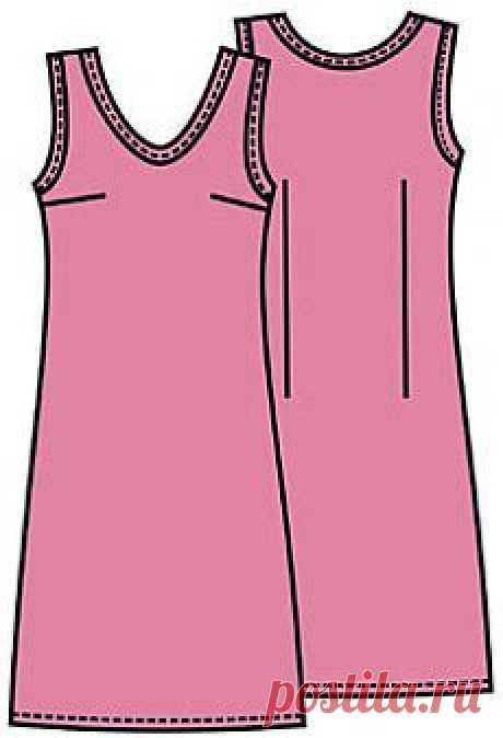 Выкройки: платье простого покроя - Бесплатные выкройки для шитья одежды. Porrivan