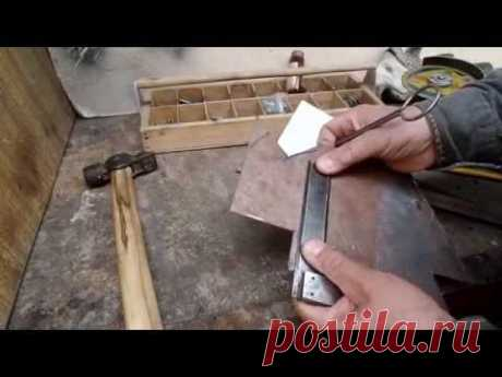 The magnetic device for welding works at the dacha by the hands