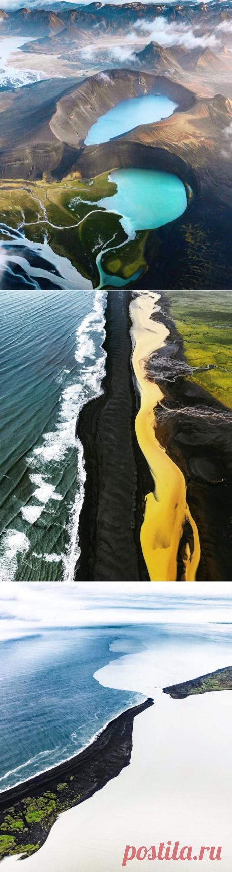 Удивительные аэрофотоснимки Исландии — Infodays