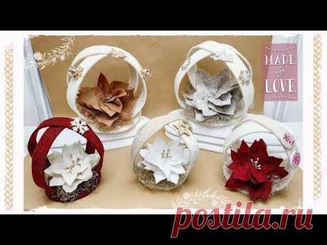 """Decorazione natalizia """"Girella"""": facile & senza cucire - YouTube"""