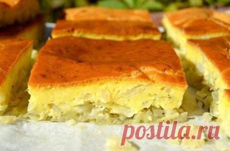 Заливной пирог с капустой Любители пирогов с капустой будут в восторге от этого заливного пирога, настолько вкусным и сочным он получается. Капуста в этом пироге нежнейшая, а тесто