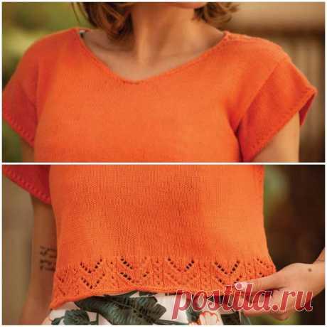 Необычные модели спицами на весну и лето: интересные топы, туника, блуза и два пуловера | Вяжем вместе! | Яндекс Дзен