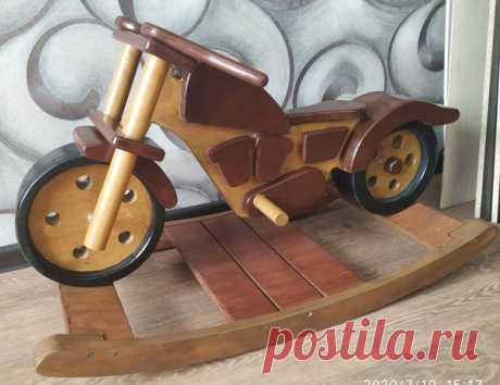 Мотоцикл-качалка. Автор elek664 на pikabu #diy #мастер #мастерская #мото #мотоцикл #качалка #дерево #идея #своимируками #сделайсам