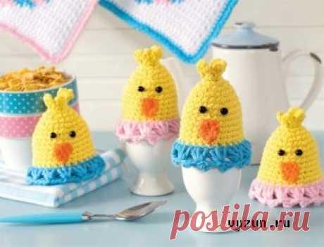 Грелки для яиц «Цыплята» » Вязун.ру - вязаный мир своими руками! Вяжем одежду и игрушки крючком и спицами!