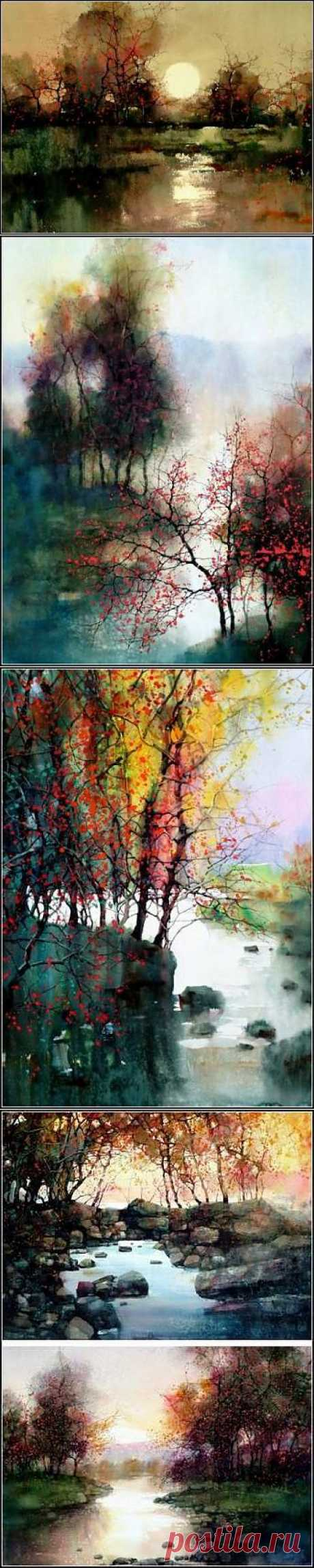 Autumn blots of the artist of ZL Feng. The Chinese view of the American nature - Gallery of arts - As a hobby - Articles - School of pleasure