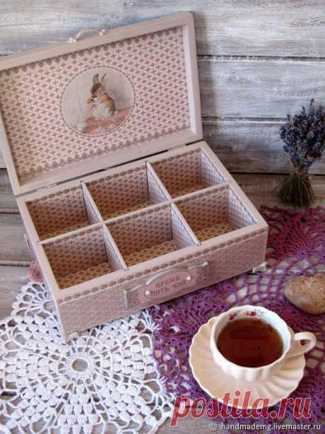 Шкатулка для чая. Время пить чай – купить в интернет-магазине на Ярмарке Мастеров с доставкой - GE5V1RU | Москва
