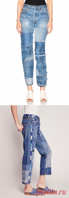Креативные джинсы пэчворк (подборка) / Переделка джинсов / ВТОРАЯ УЛИЦА