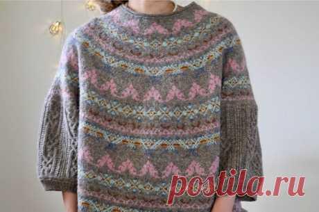 Свободный пуловер Astrid - Вяжи.ру
