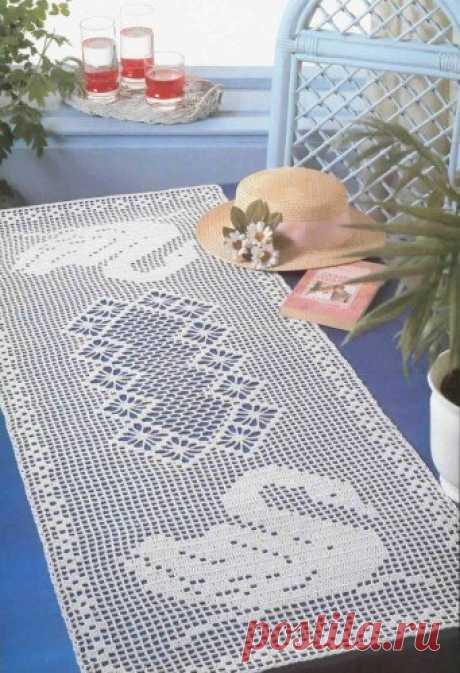 """""""Поплыли лебеди"""" - мотив для филейного вязания из категории Интересные идеи – Вязаные идеи, идеи для вязания"""