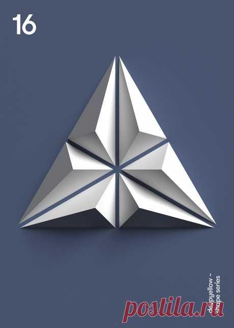 3D y geometría: los pósters de Deep Yellow – Blog de diseño gráfico y creatividad