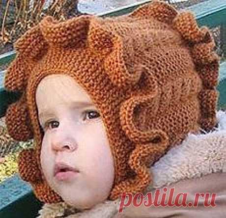 Детская шапочка спицами — замечательная, теплая и удобная   ВЯЗАНИЕ ДЛЯ ДЕТЕЙ Спицами и Крючком — Схемы и Описание