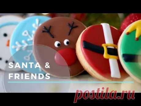 Beginner Christmas Cookies (Santa, Rudolph, Gingerbread, Snowman & Snowflake)