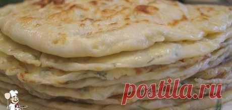 Аварские лепешки с картошкой и луком - Готовим рецепты