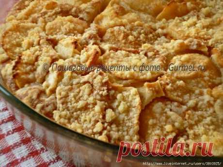 Яблочный пирог «Пушистик» на кефире - домашний-домашний, «как у бабушки»