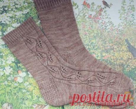 Вязаные носки «Лесная прогулка» | ВЯЗАНЫЕ НОСКИ