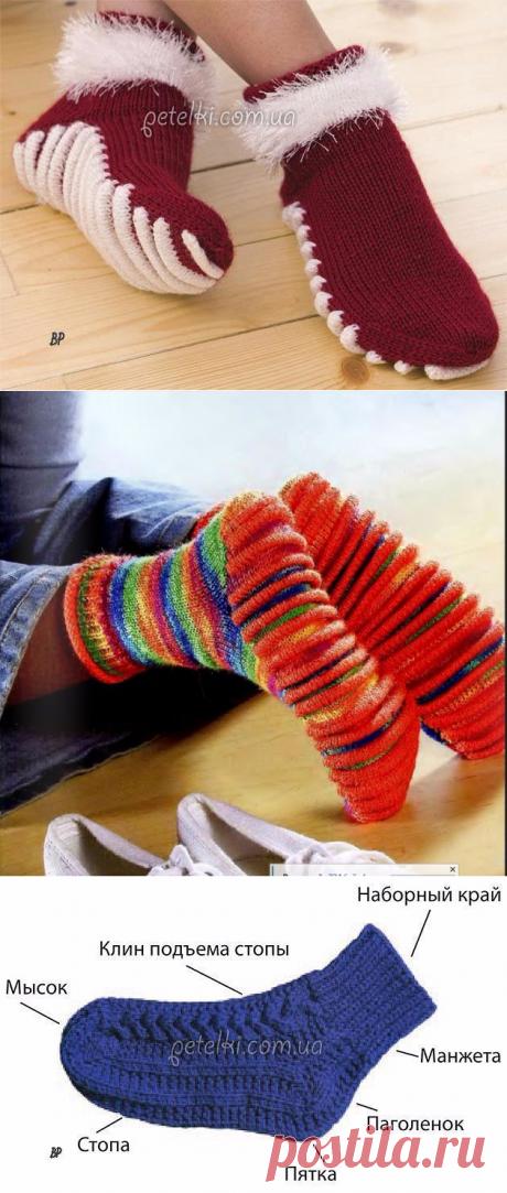 Носки с рельефной массажной подошвой (Вязание спицами)