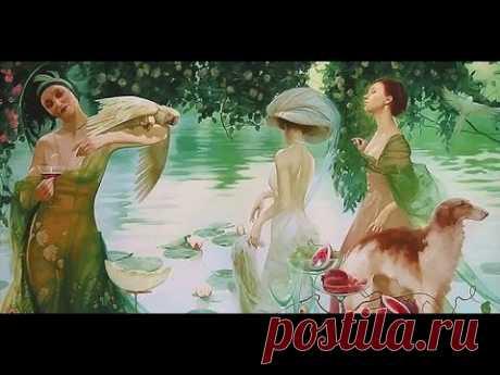 Романтика Серебряного века в стиле Арт-нуво на полотнах московской художницы Светланы Валуевой