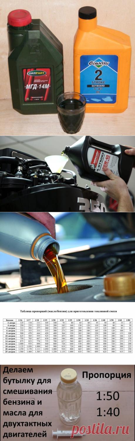 Соотношение масла и бензина в 2т двигателе: таблица, правила смешивания