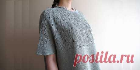 Пуловер с ажурной кокеткой Moba - Вяжи.ру