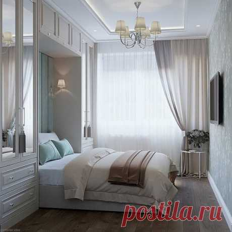 Автор - Студия Дениса Серова Нежно и уютно. Нравится решение со шкафами