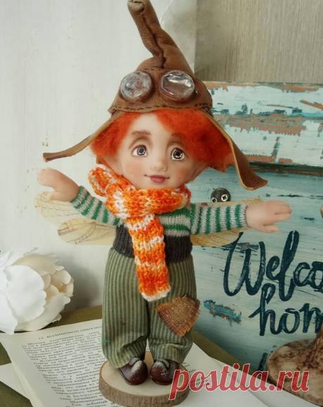 Эльф-Летун Кукла из полимерной глины