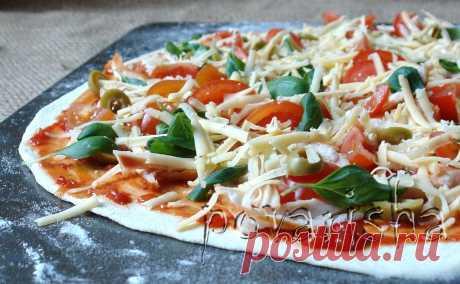 Тонкое тесто для пиццы на опаре