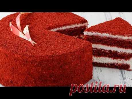 Торт Красный бархат. Рецепты домашних тортов пошагово. Торт рецепт с фото пошагово. Рецепт торта - YouTube