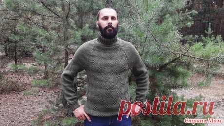 Мужской свитер регланом сверху без швов - Вязание - Страна Мам