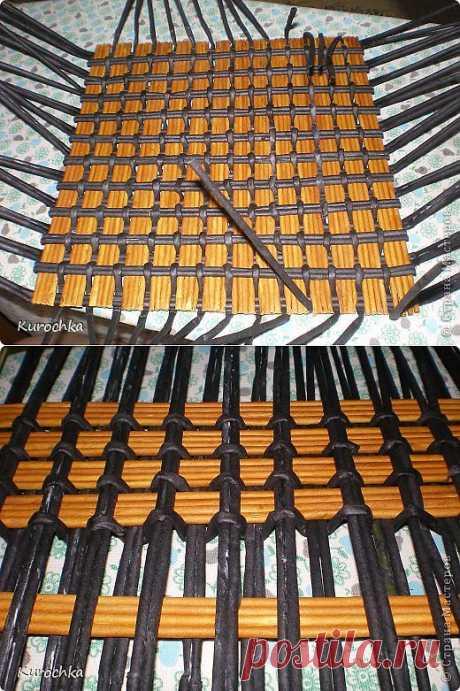 Плетение из газет. Интересное плетение дна для корзинки. Мастер-класс | Readerstore.ru