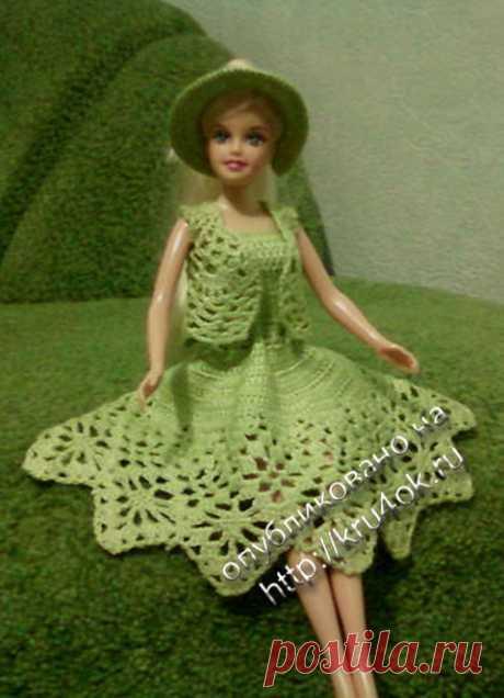 Платья для Барби вяжем крючком