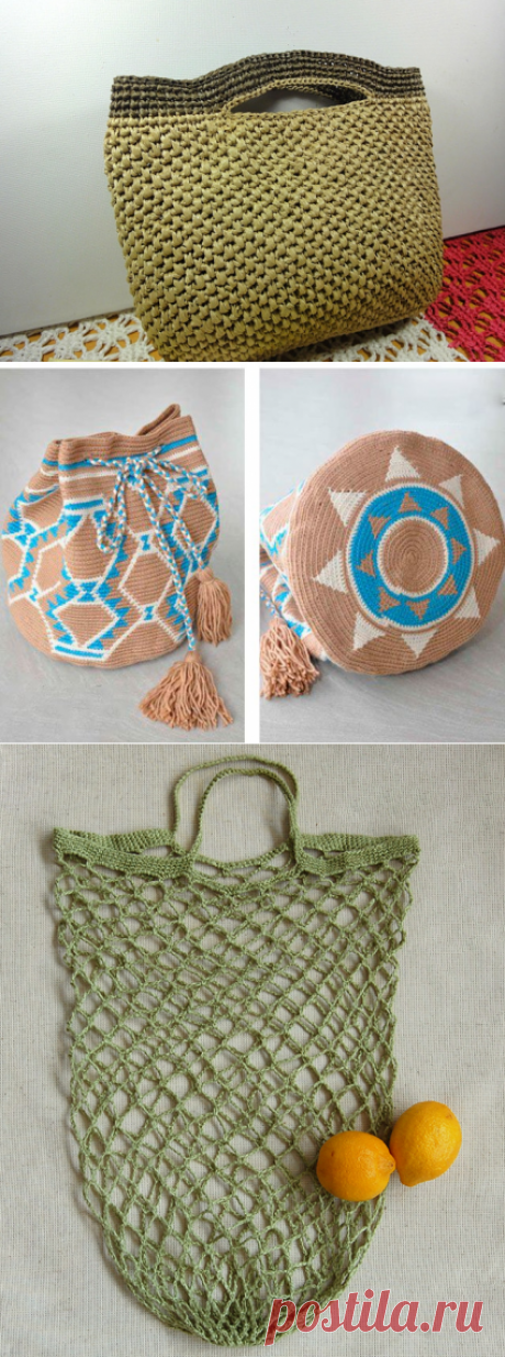 Популярные модели сумок, связанных крючком