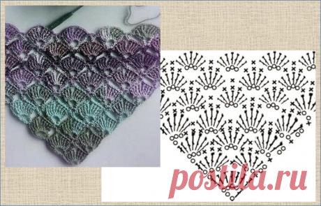 Еще 14 узоров для вязания модной шали крючком - в копилку мастерице | МНЕ ИНТЕРЕСНО | Яндекс Дзен