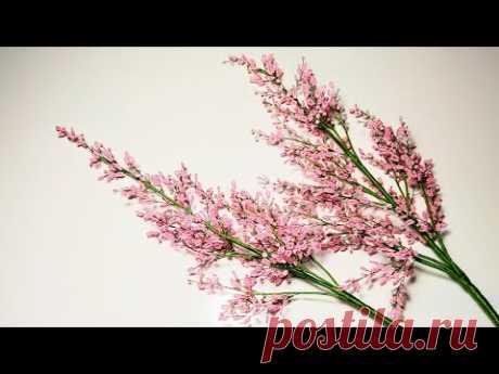 Мастер класс Астильба из бисера Бисероплетение Цветы из бисера