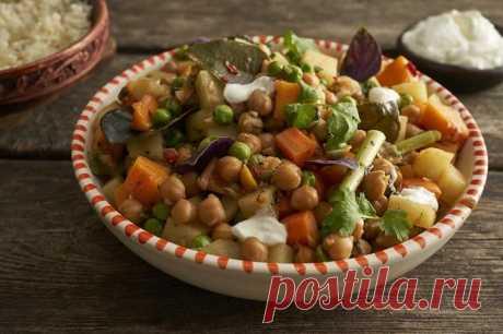Быстрое овощное рагу с нутом в кастрюле – пошаговый рецепт с фото.
