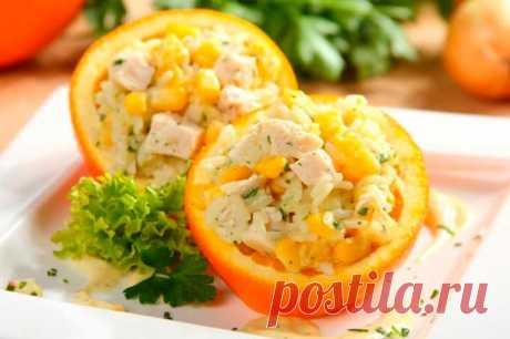 Салат гавайский с курицей, ананасами и апельсинами – пошаговый рецепт с фото.