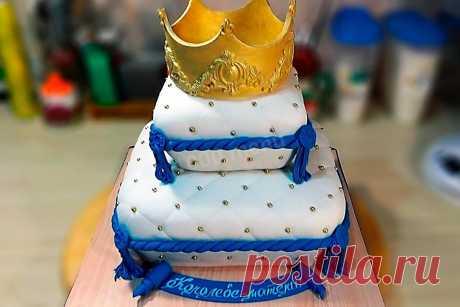 Торт Подушка с короной из мастики рецепт с фото пошагово - 1000.menu