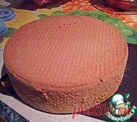 Высокий бисквит, который не опадает - кулинарный рецепт