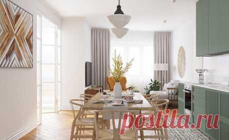 Проект квартиры 81 кв.м. с искусственными перегородками Комфортное и светлое пространство для жизни Минске.