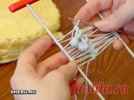 La labor de punto sobre el tenedor la lección 4 - Hairpin Crochet lesson 4